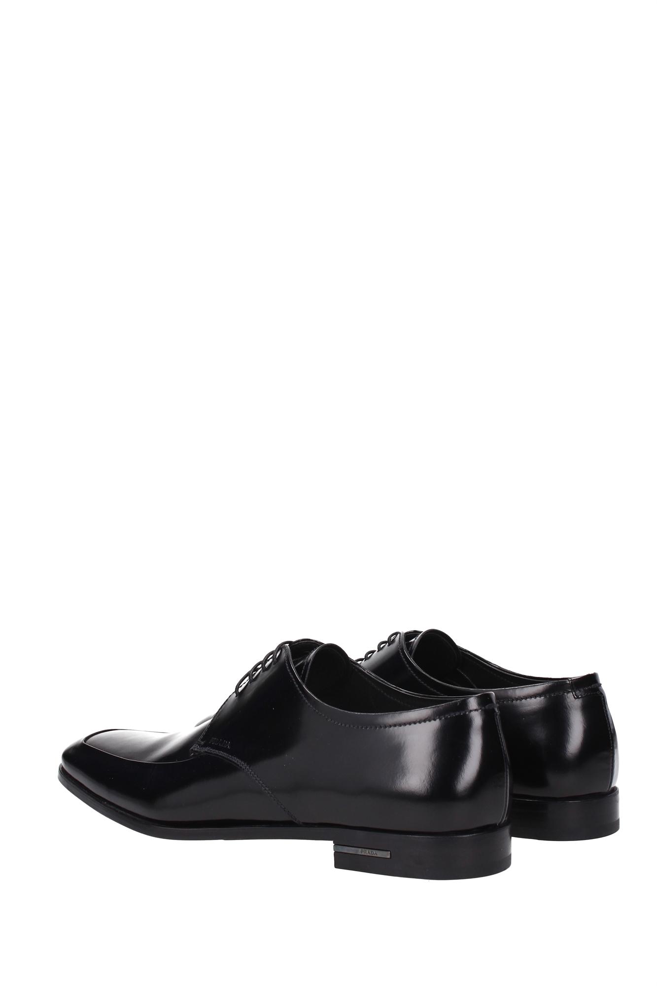 lace up shoes prada leather black 2e1598nero ebay