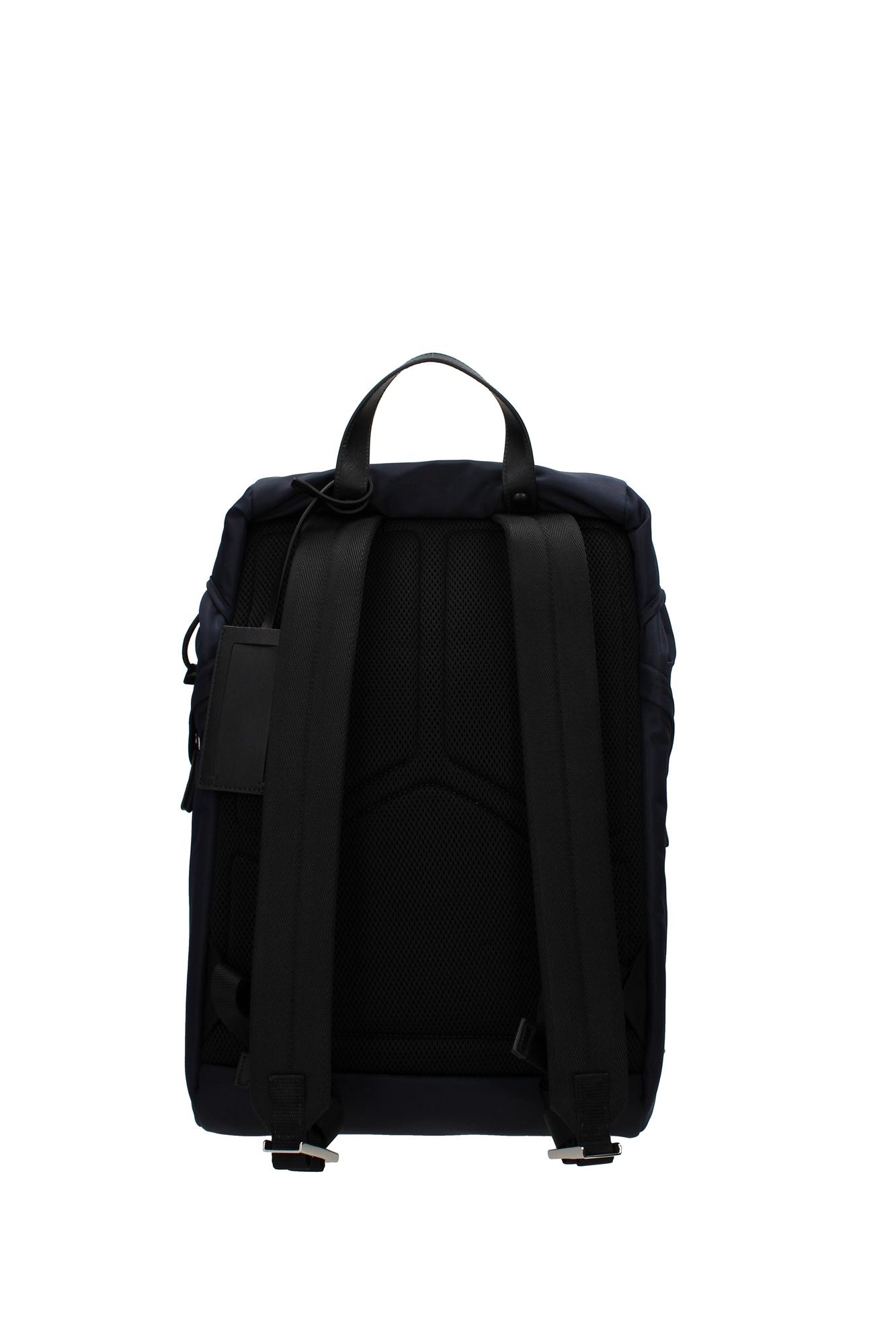 tasche rucksack prada herren nylon blau 2vz135bleu ebay. Black Bedroom Furniture Sets. Home Design Ideas