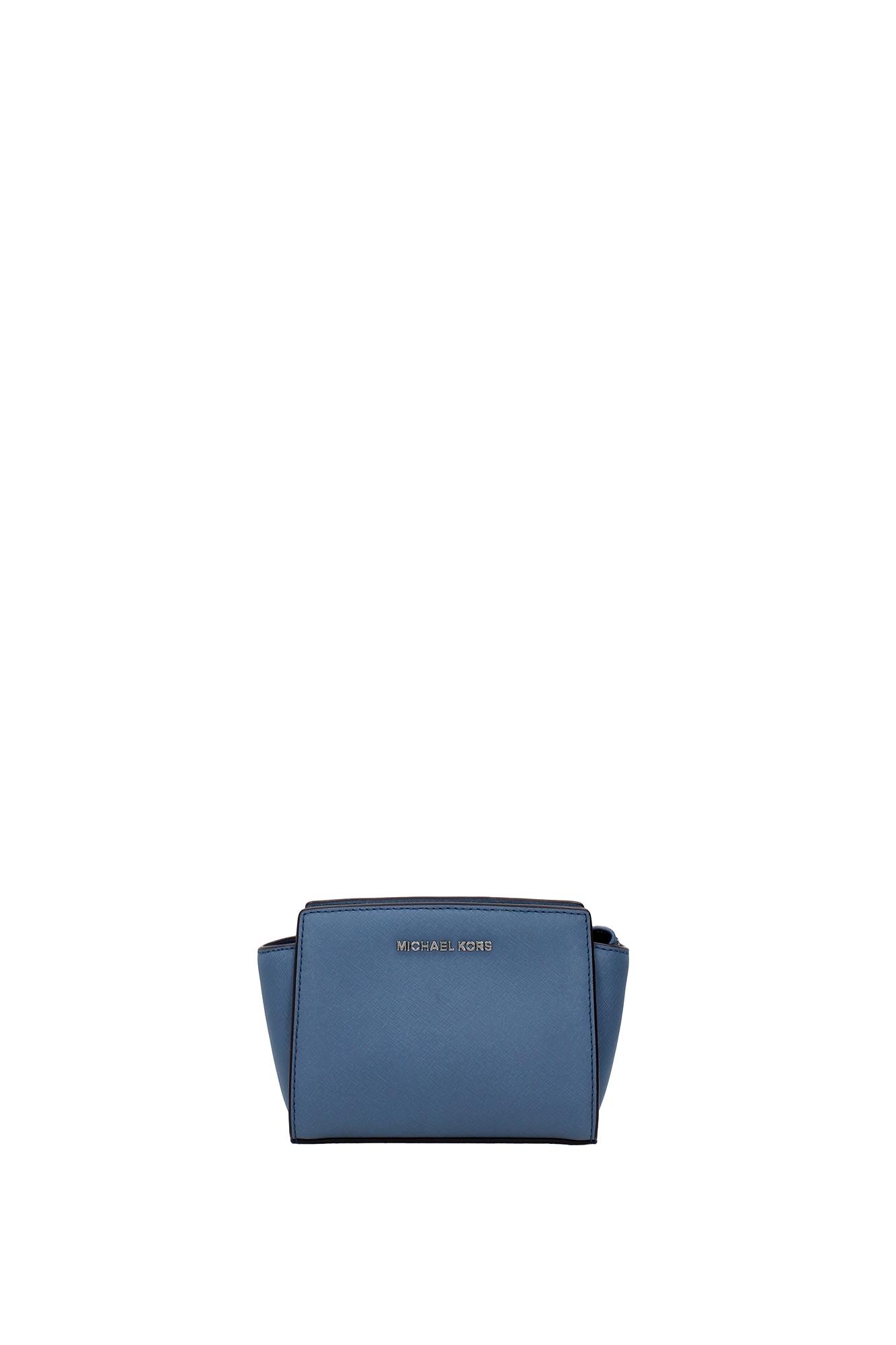 handtasche michael kors damen leder blau 32h3slmc1ldenim. Black Bedroom Furniture Sets. Home Design Ideas