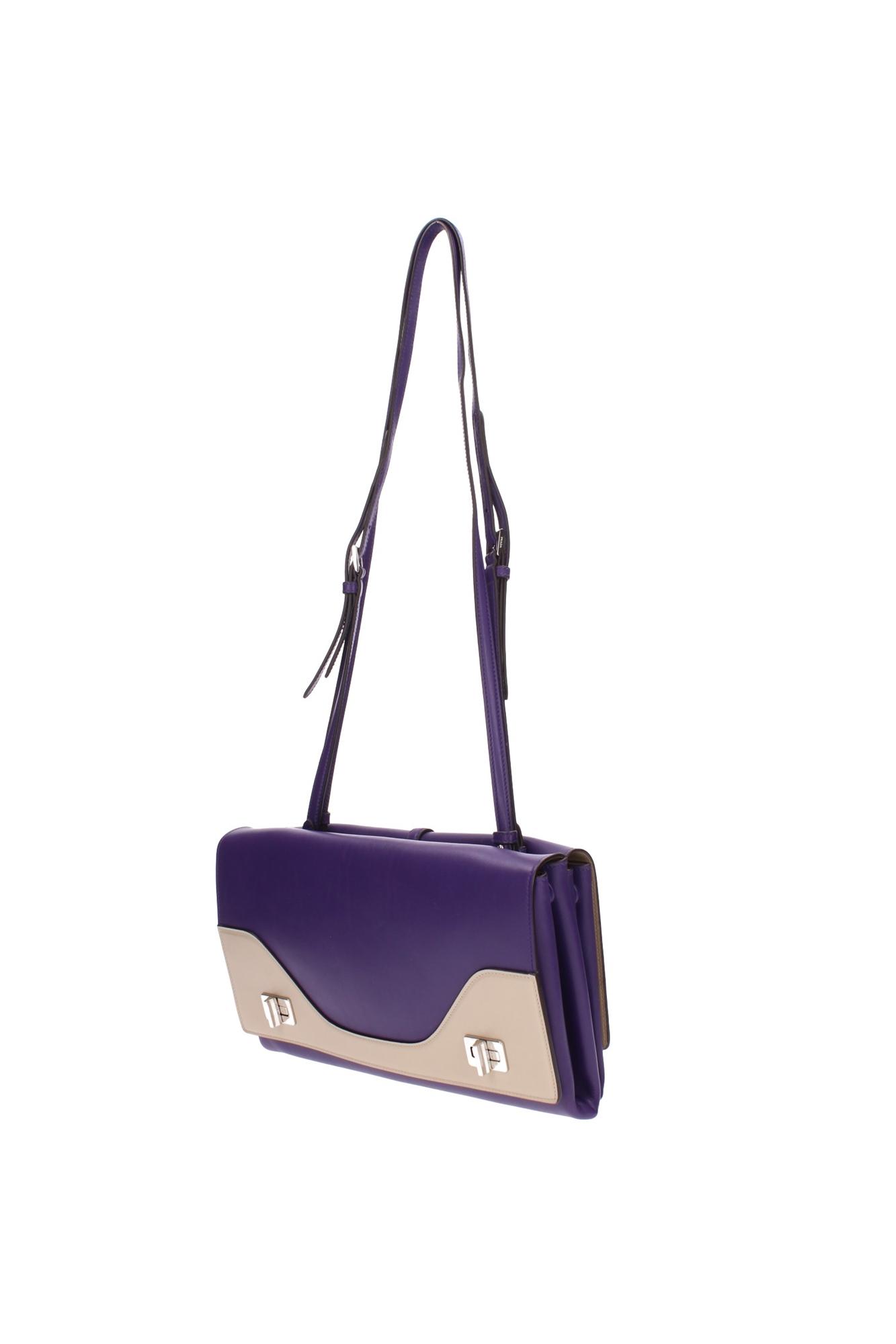Borse A Tracolla Prada Donna Pelle Viola Br5077violasabbia | eBay