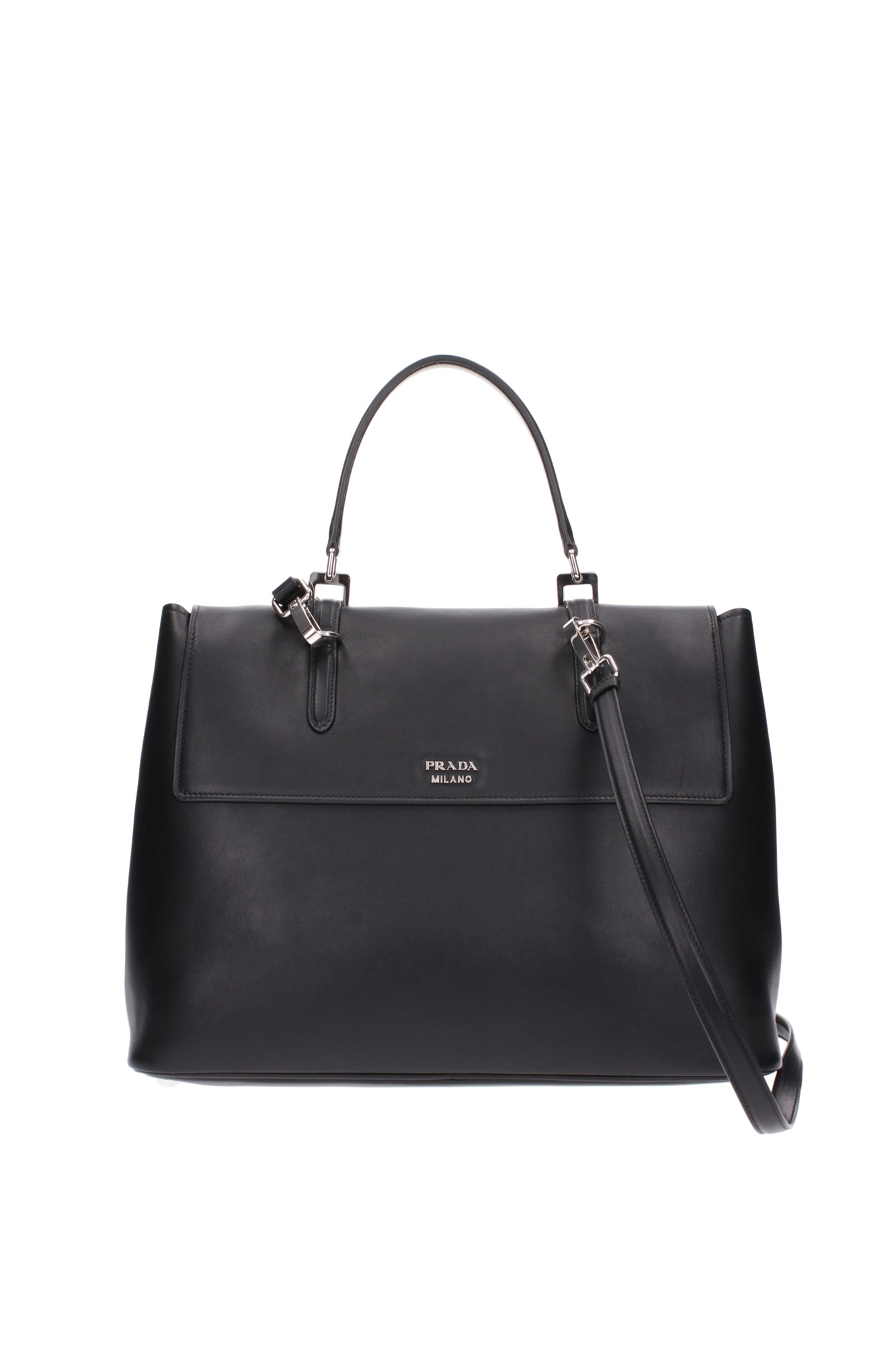 handtasche prada damen leder schwarz bn2790nero ebay. Black Bedroom Furniture Sets. Home Design Ideas