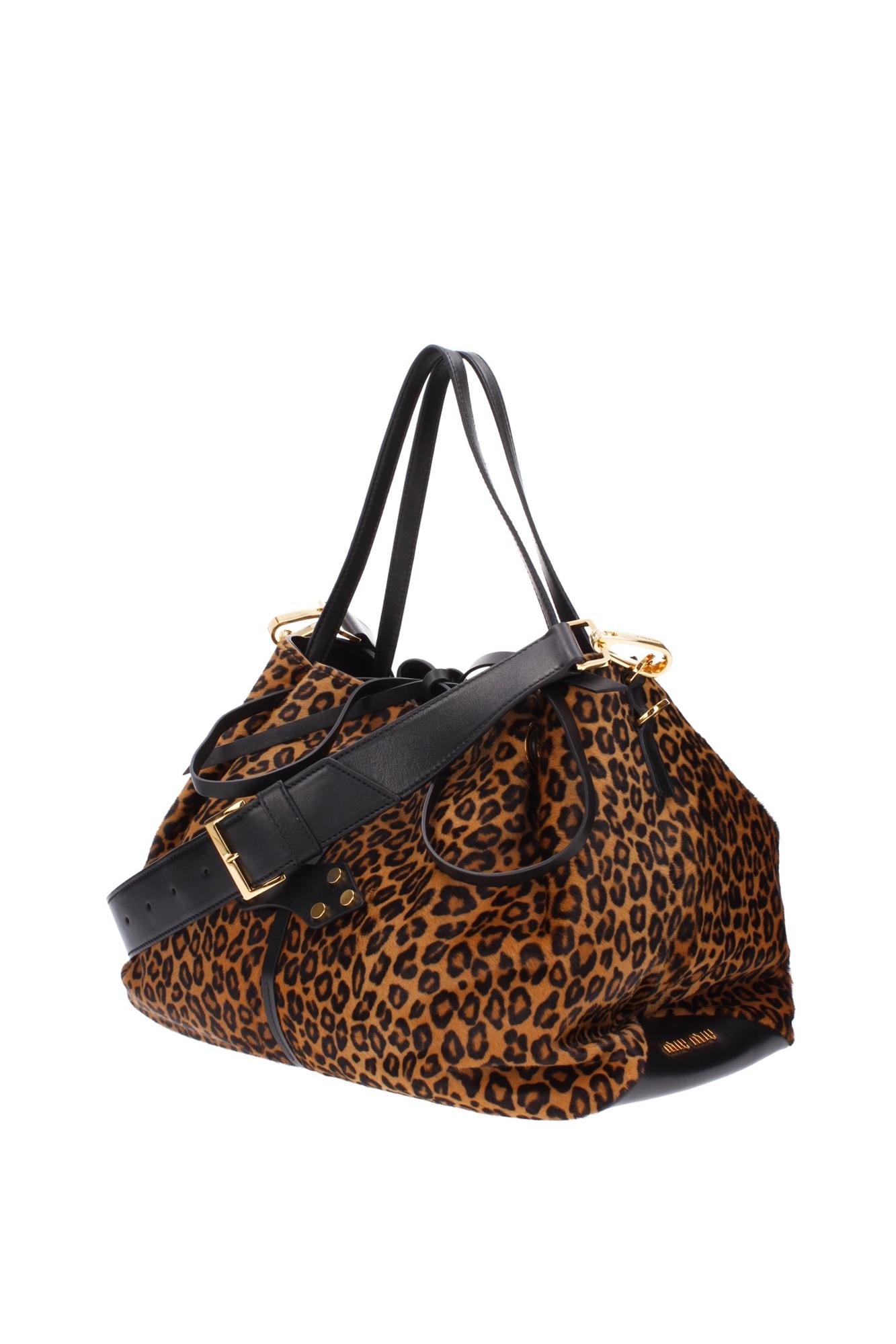 32545bbd9e85 Hand Bags Miu Miu Women Pony Skin Brown RR1918MIELEMORO