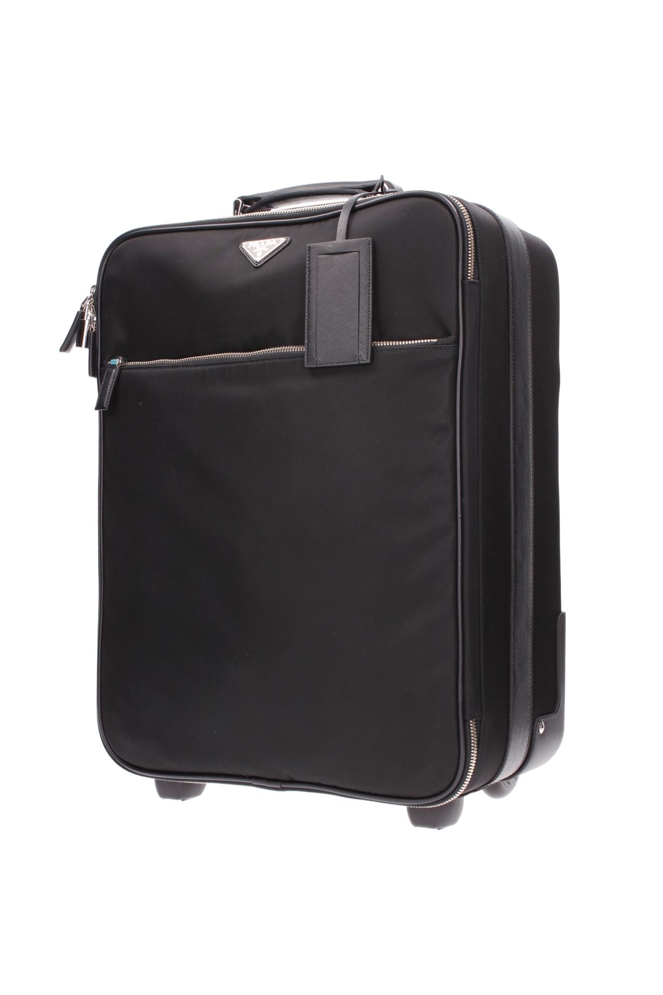 Luggage and Travel Bags Prada Men Fabric Black VV030MNERO | eBay