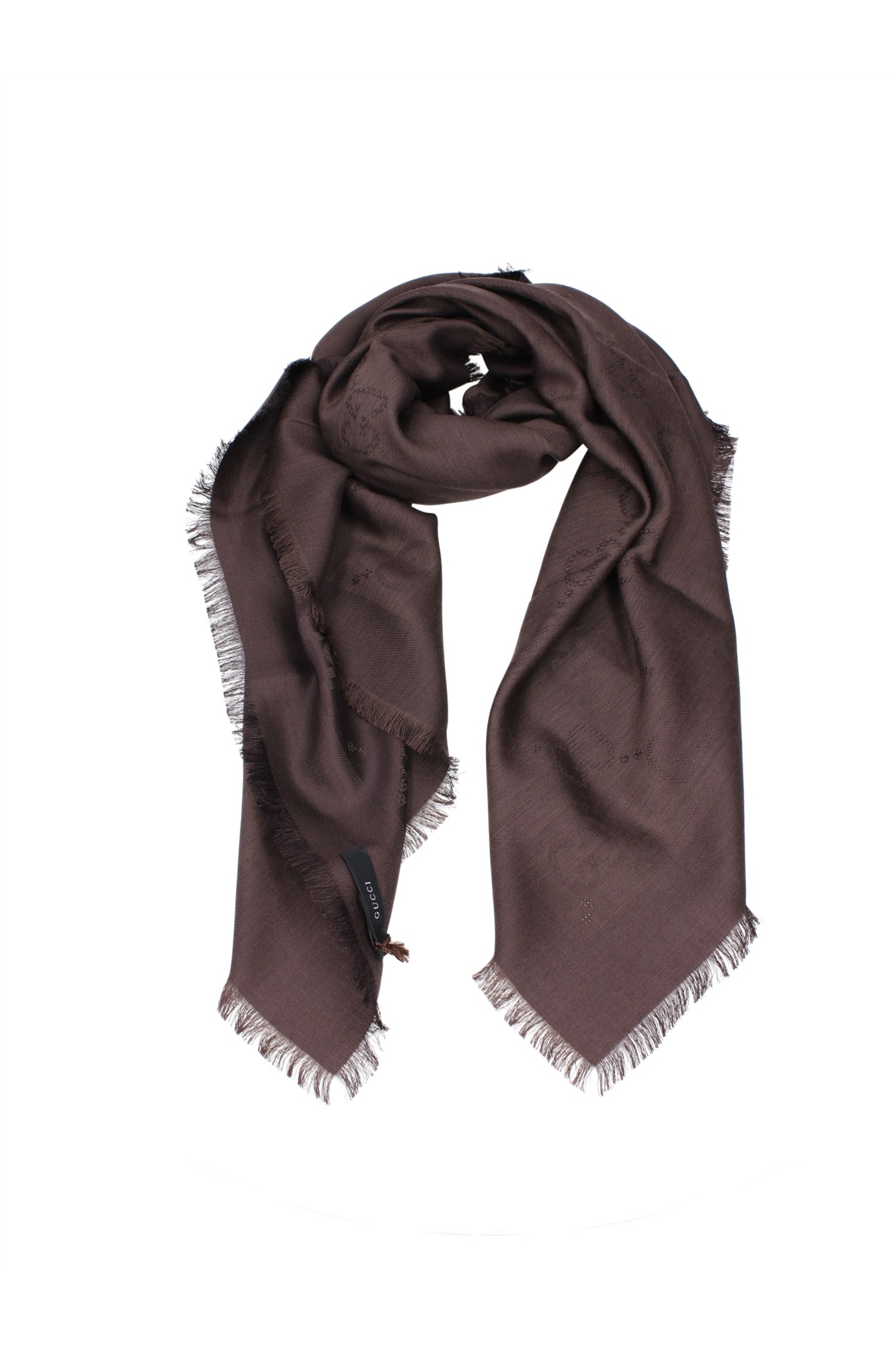 foulard schals gucci herren seide braun 2952213g7602000. Black Bedroom Furniture Sets. Home Design Ideas
