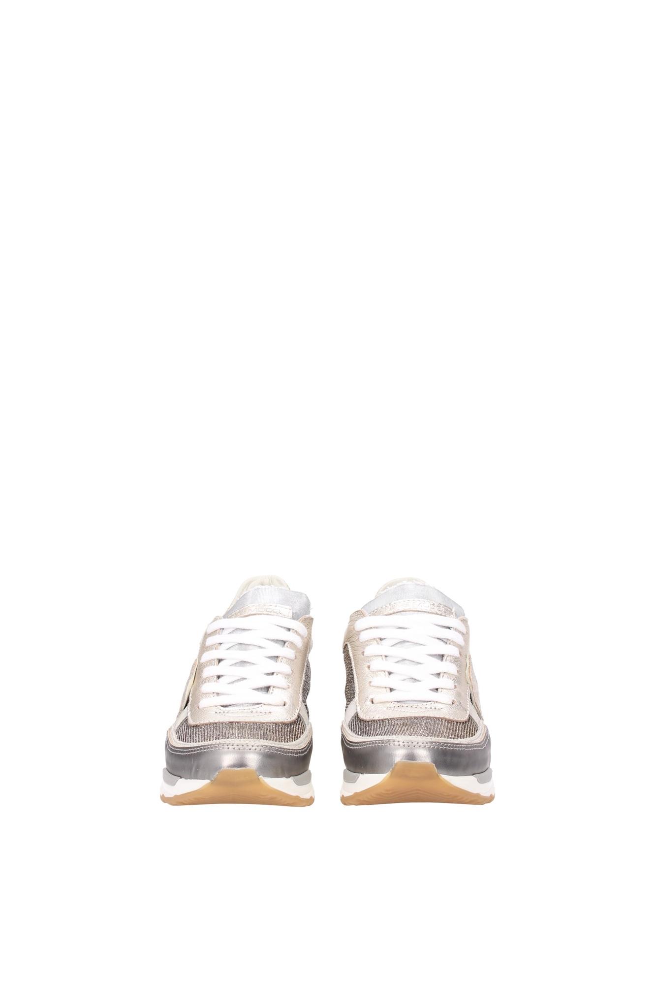 sneakers philippe model damen wildleder silber cyldtt02 ebay. Black Bedroom Furniture Sets. Home Design Ideas