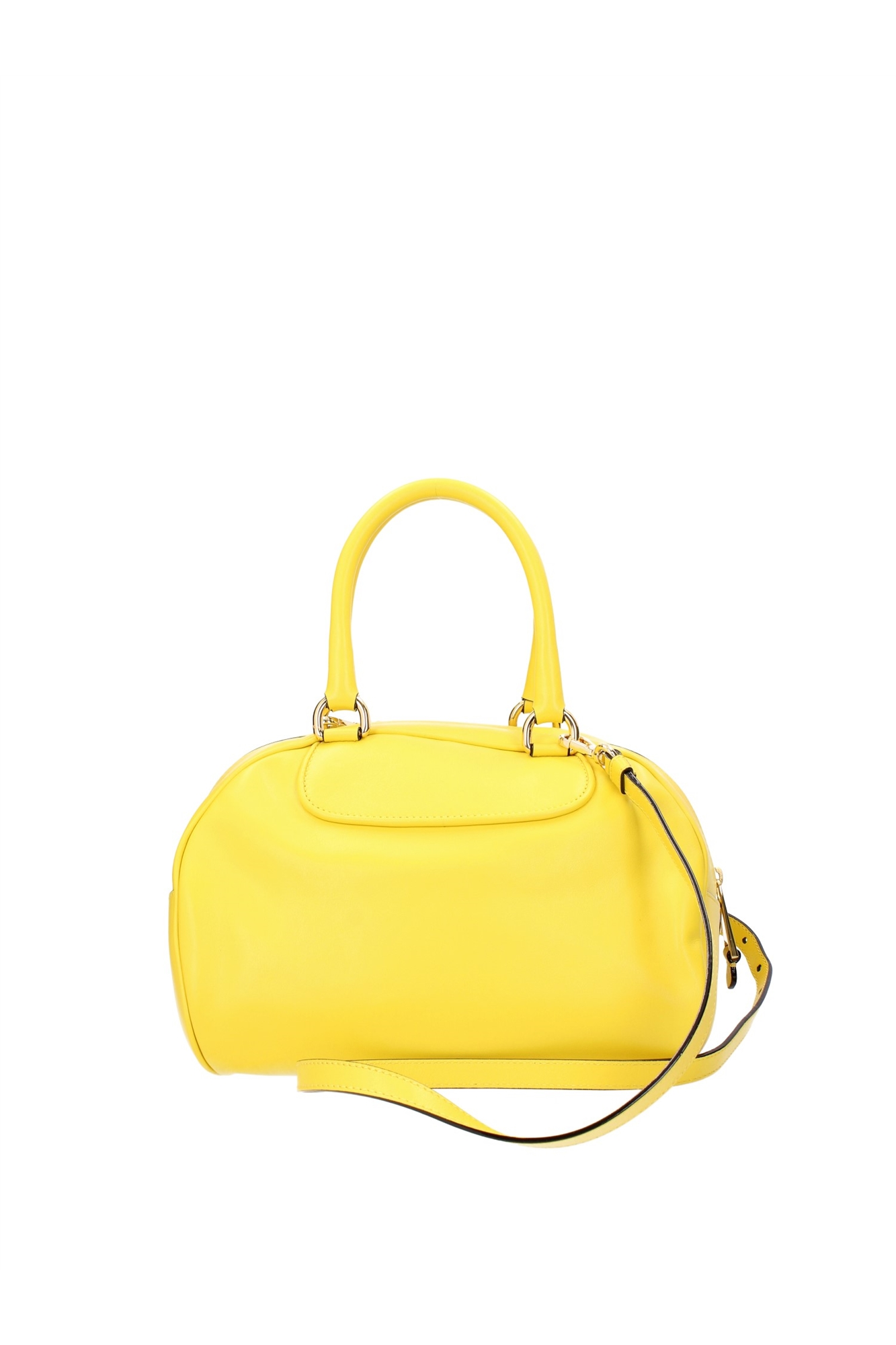 bowling bags moschino women leather yellow 2a7488800127 ebay. Black Bedroom Furniture Sets. Home Design Ideas