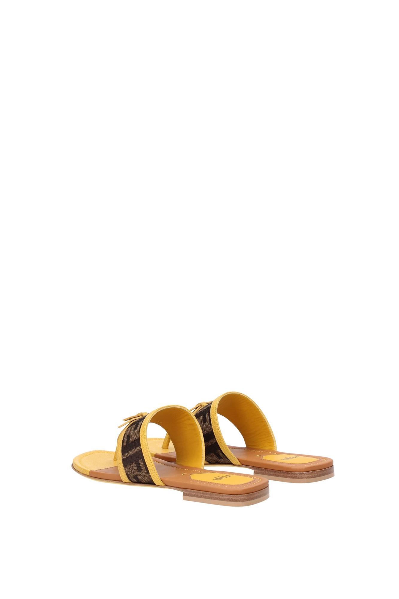 flip flops fendi damen stoff gelb 8y47271f1f0v06 ebay. Black Bedroom Furniture Sets. Home Design Ideas
