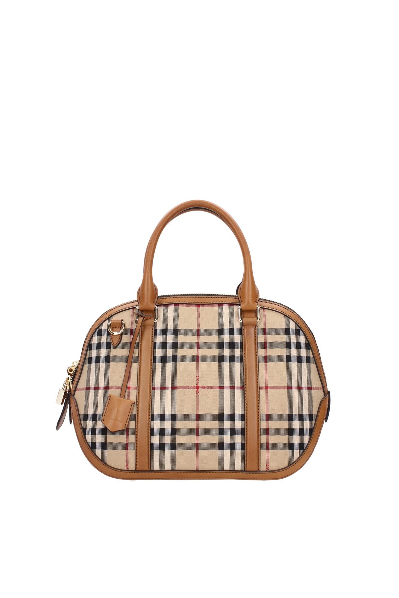 Hand Bags Burberry Women Polyamide Brown 3939335 | eBay