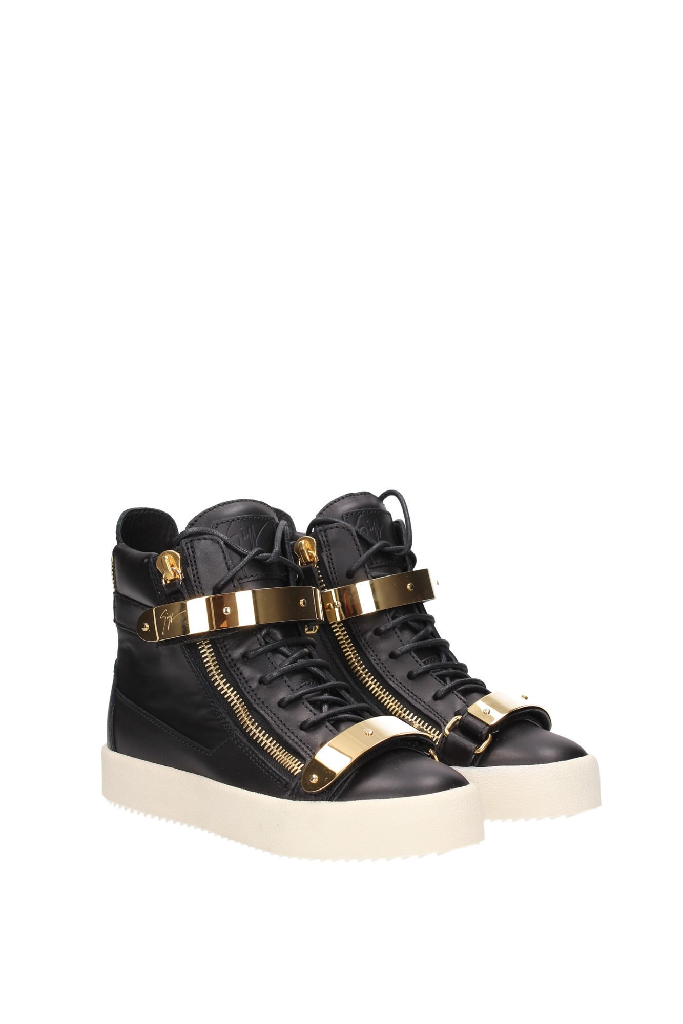 sneakers giuseppe zanotti damen leder schwarz rs5029maynero. Black Bedroom Furniture Sets. Home Design Ideas