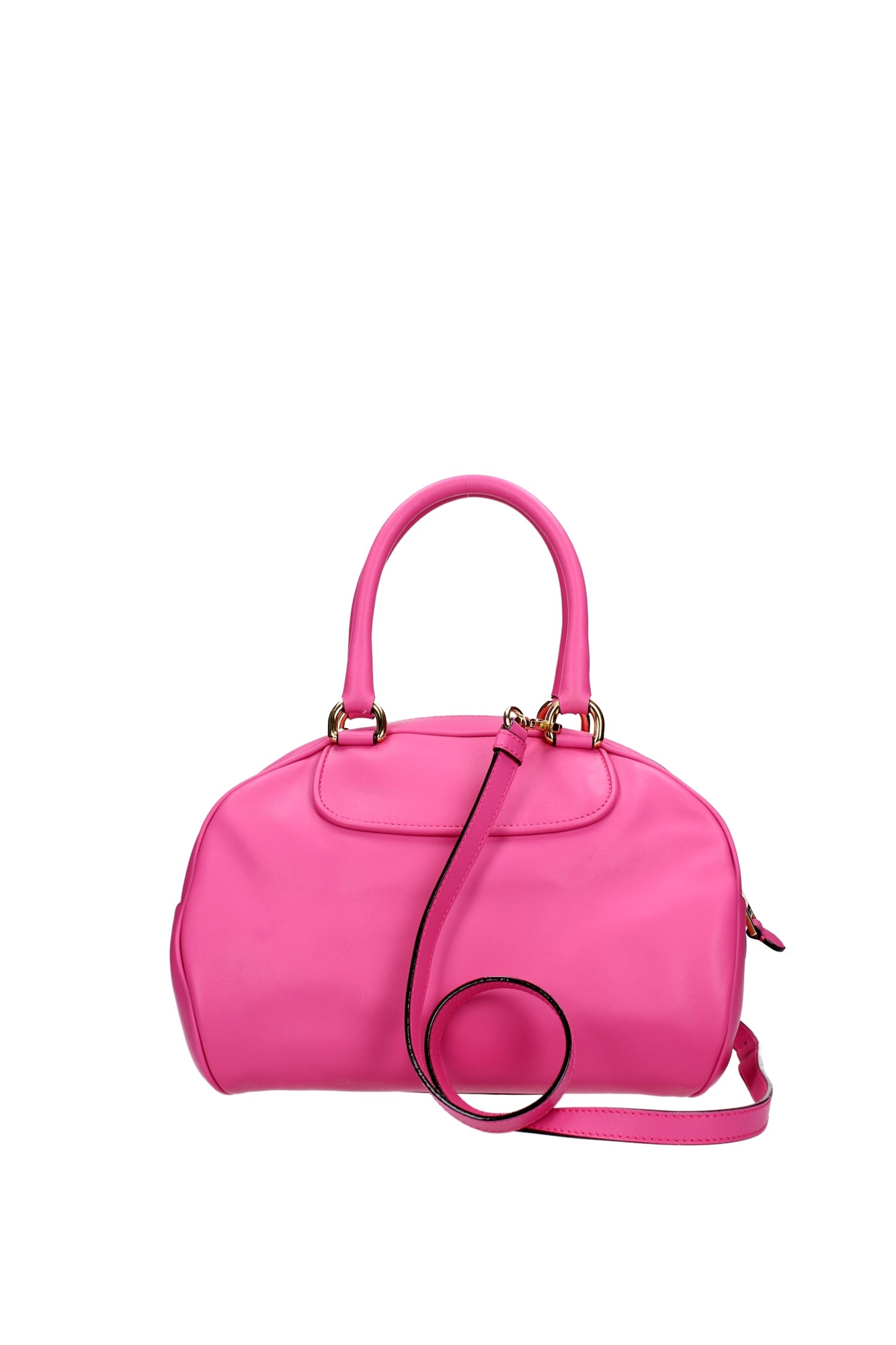 bowling bags moschino women leather fuchsia a748880010209 ebay. Black Bedroom Furniture Sets. Home Design Ideas