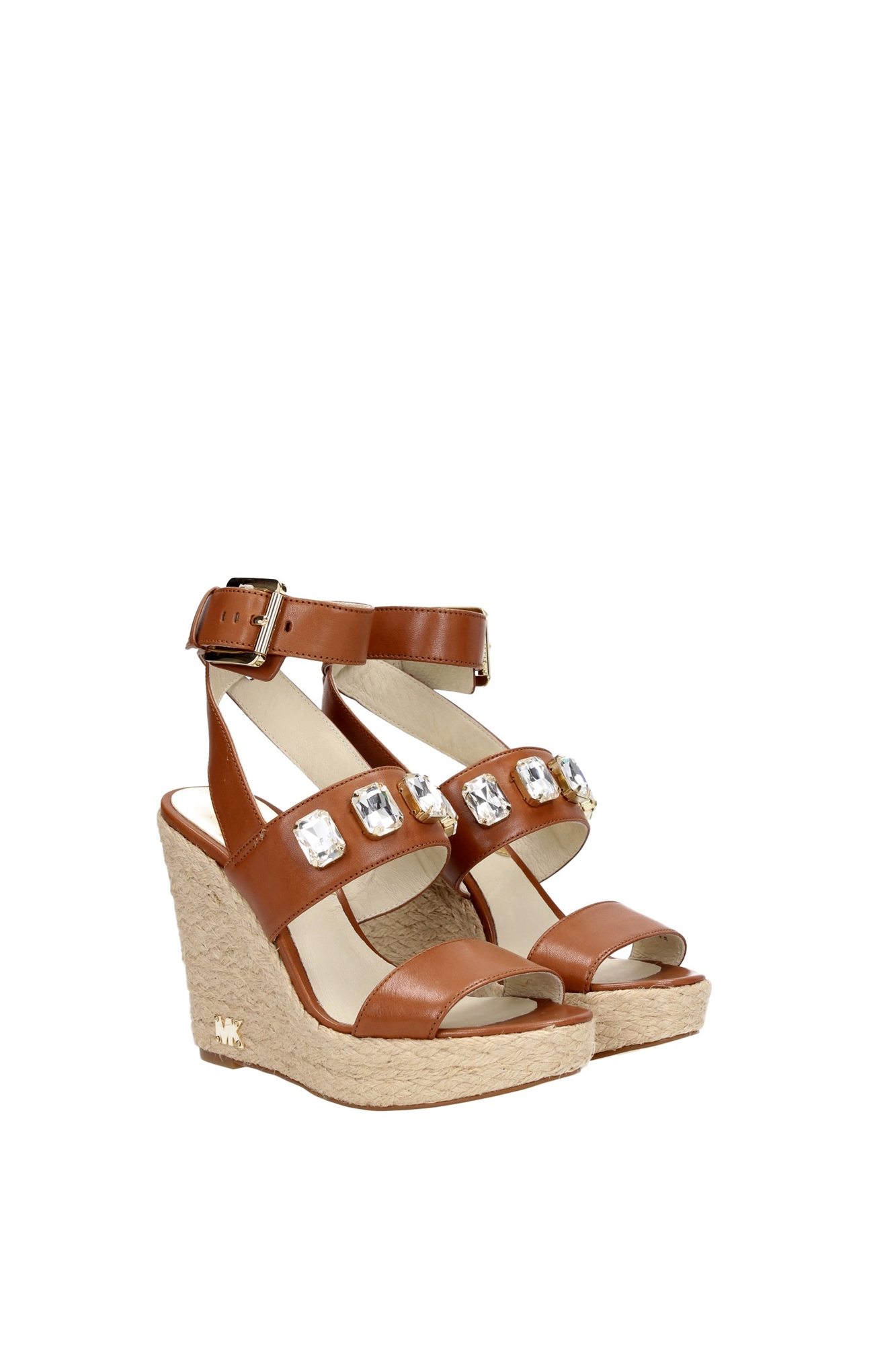 Wedges Michael Kors Women Leather Brown 40R5LYMS2LLUGGAGE