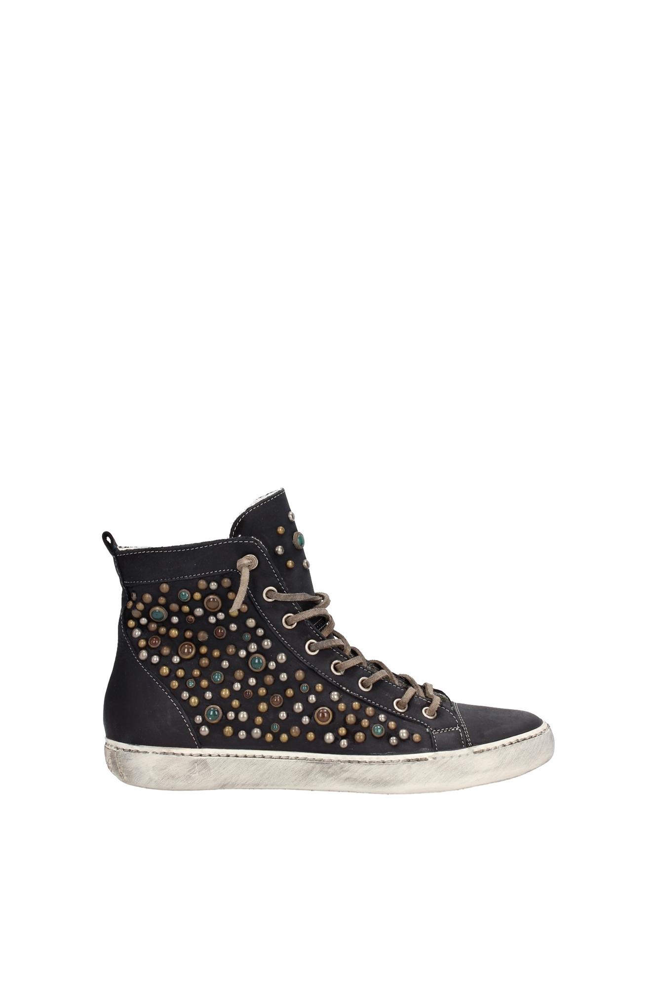 sneakers leather crown damen leder schwarz w160black ebay. Black Bedroom Furniture Sets. Home Design Ideas