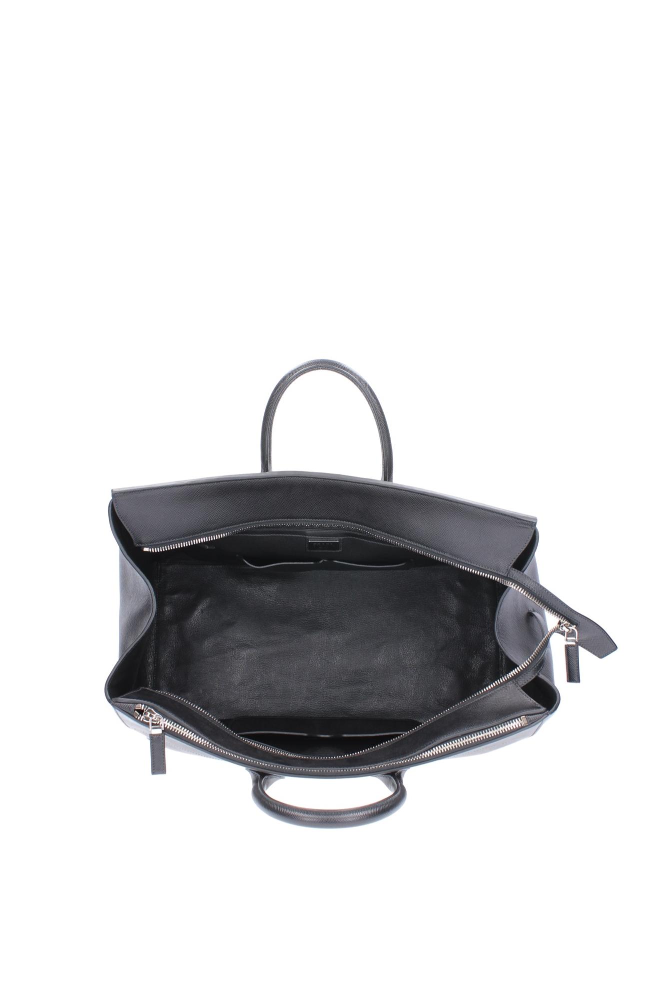 koffer und reisetaschen prada herren leder schwarz va1068nero ebay. Black Bedroom Furniture Sets. Home Design Ideas
