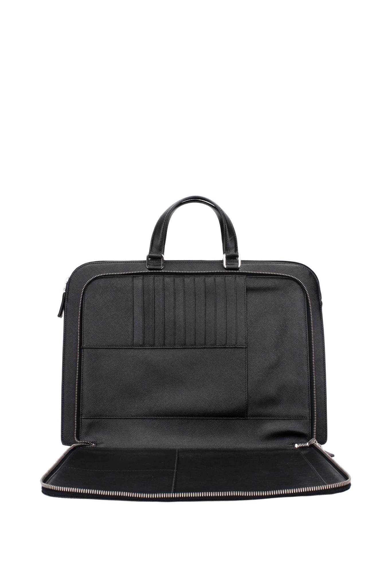 Briefcases Prada Men Leather Black Vr0023nero Ebay