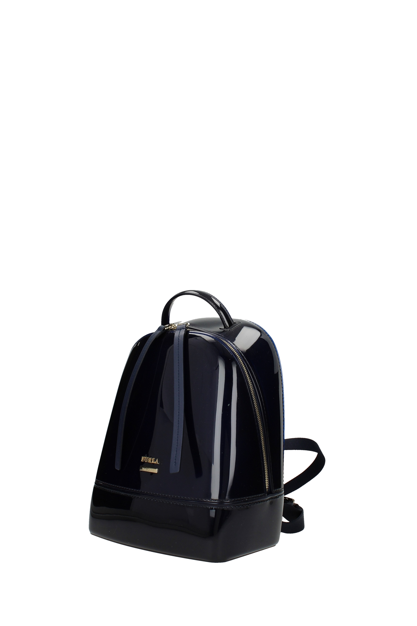 tasche rucksack furla damen pvc blau 852043bbjw2pl0navy ebay. Black Bedroom Furniture Sets. Home Design Ideas