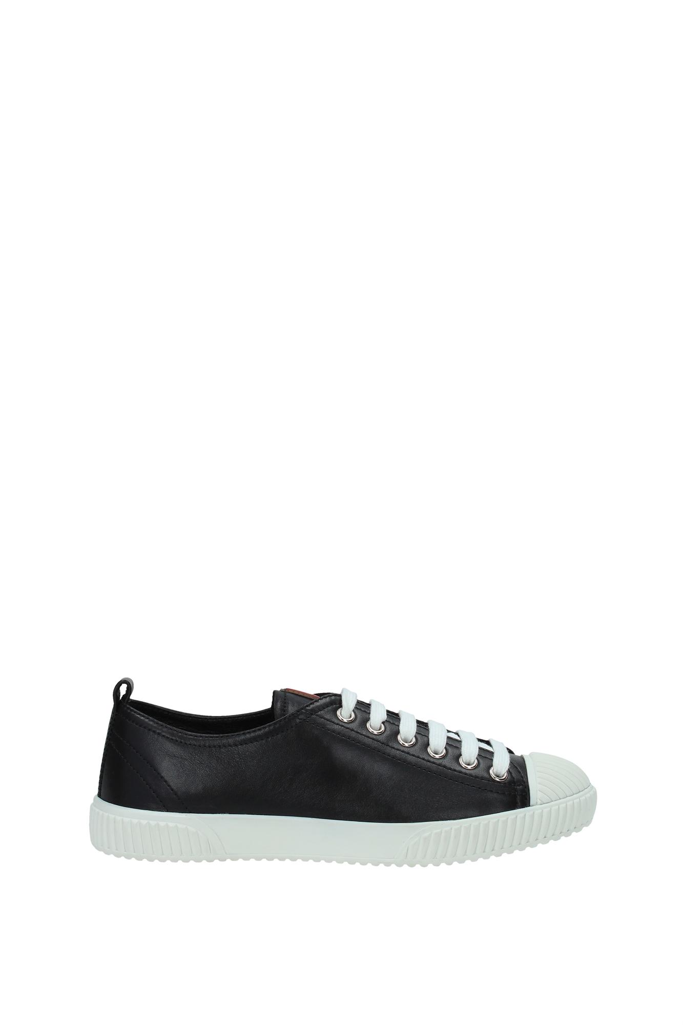 sneakers prada damen leder schwarz 3e5876nerobianco ebay. Black Bedroom Furniture Sets. Home Design Ideas