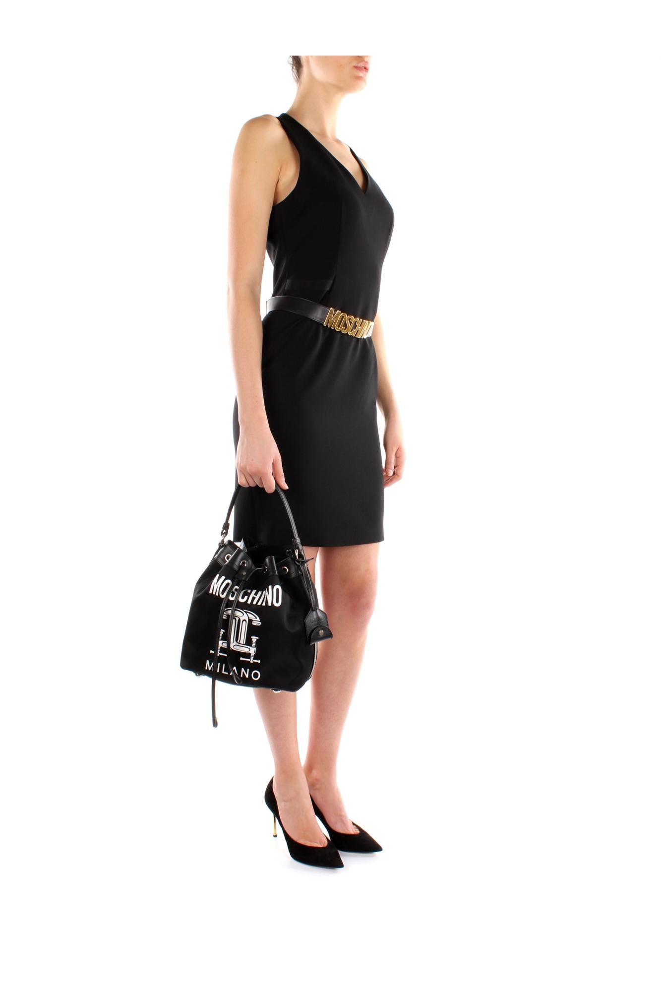 handtasche moschino damen stoff schwarz a759782501555. Black Bedroom Furniture Sets. Home Design Ideas