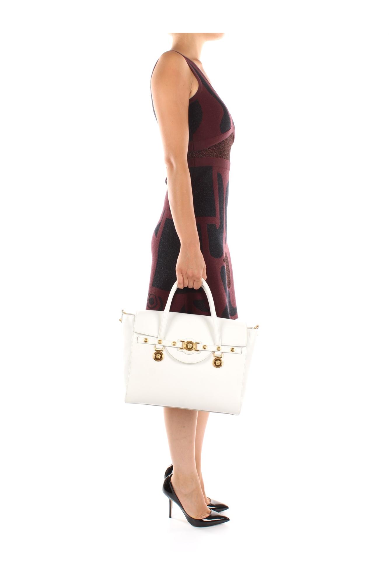handtasche versace damen leder wei dbfd705dvt4zd01o ebay. Black Bedroom Furniture Sets. Home Design Ideas