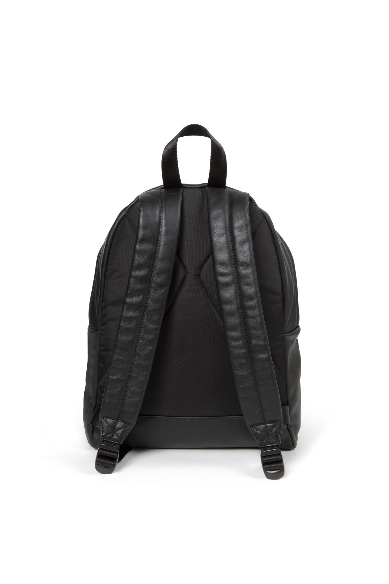 Leather Eastpak Backpack: Bags Backpack Eastpak Unisex Leather Black EK62066O