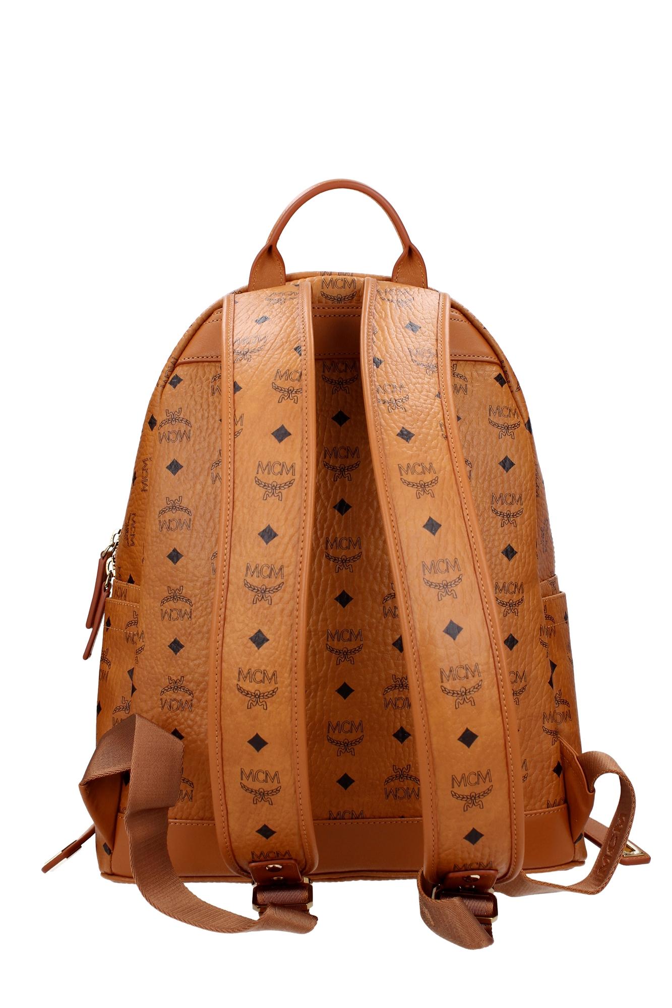 bags backpack mcm unisex polyurethane brown mmk6sve79c0001 ebay. Black Bedroom Furniture Sets. Home Design Ideas
