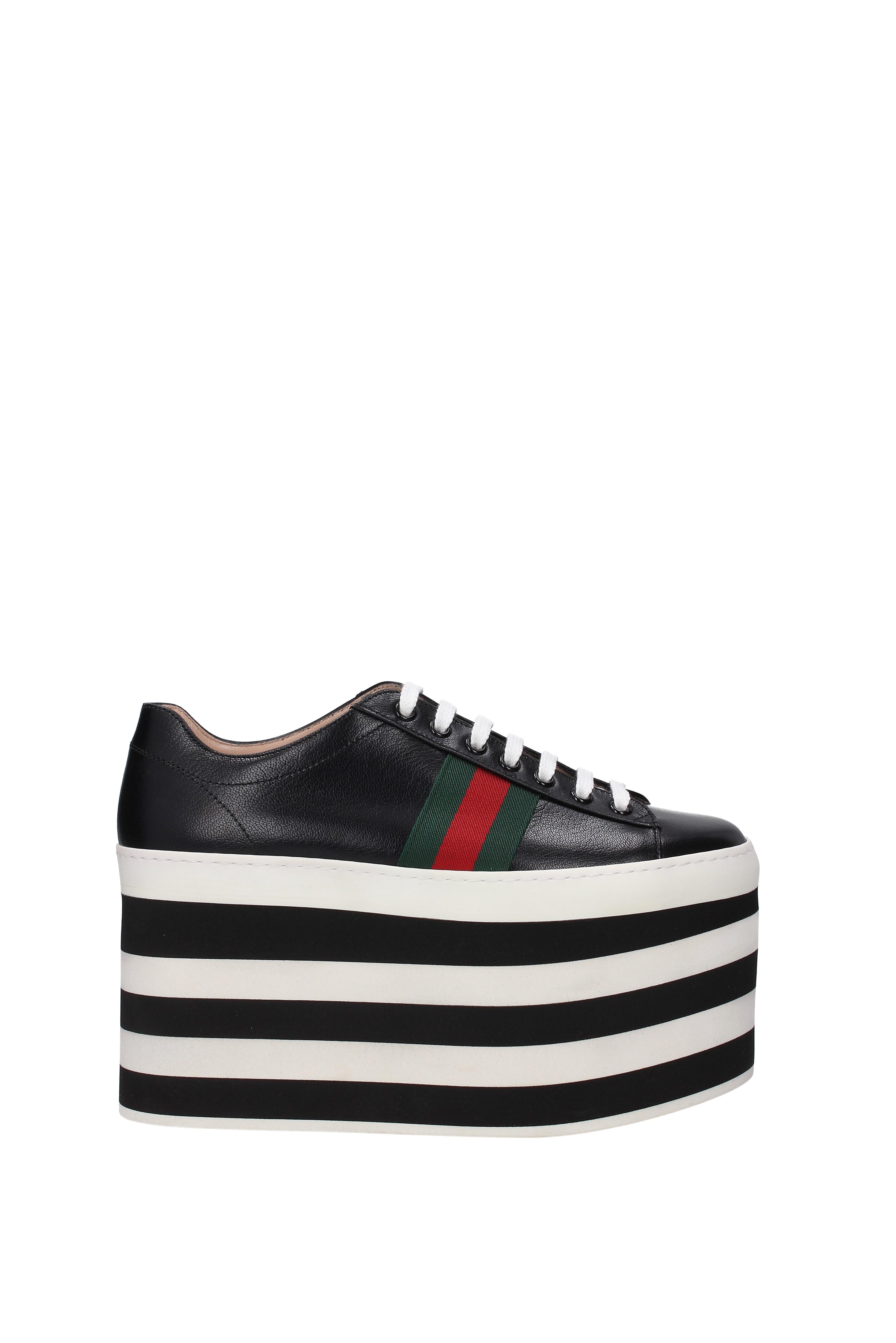 Zapatillas De Cuero Gucci Para Mujer - (452312D3VN0)  adac3044b92