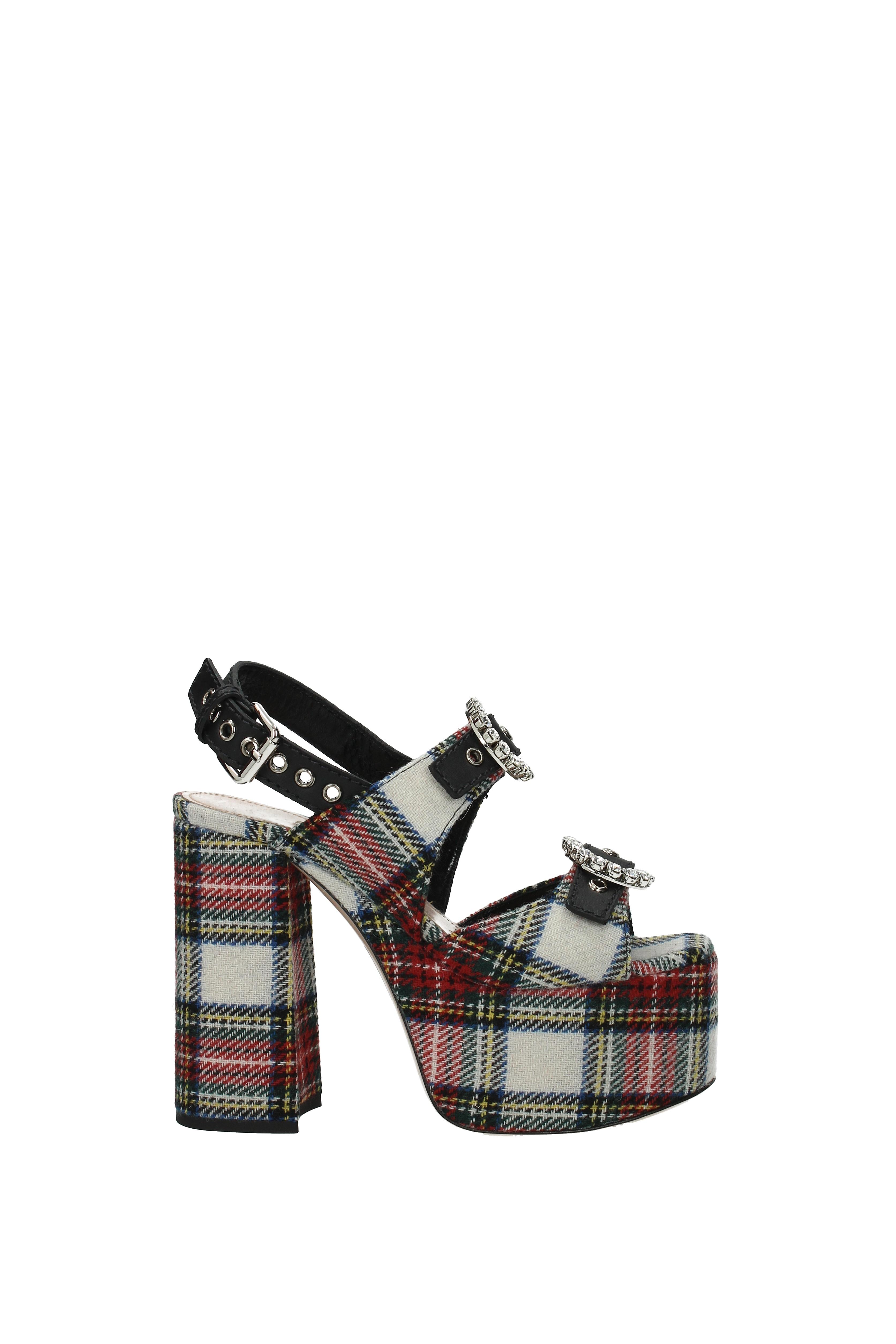 Sandales Miu - Miu Damens - Miu Fabric  (5XP748TARTANVITNEVA) 29b9a8